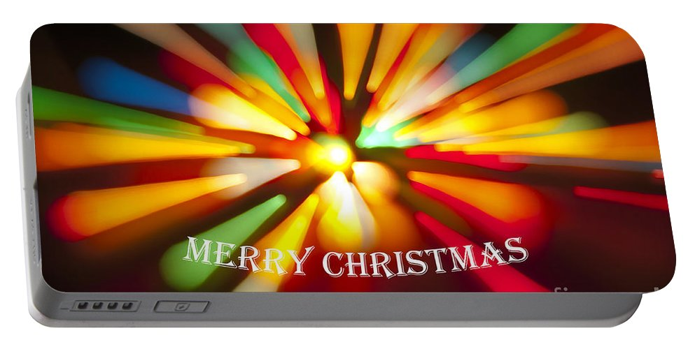 Merry Christmas Portable Battery Charger featuring the photograph Merry Christmas by Glenn Gordon
