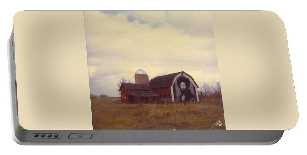 Advertisement On Old Barn Portable Battery Charger featuring the photograph Michigan Barn by Robert Floyd