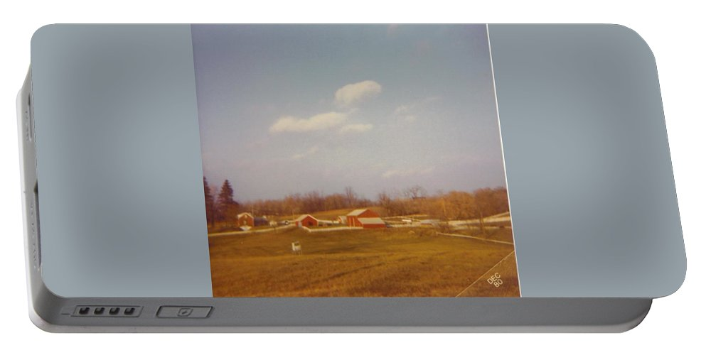 Michigan Farm And Landscape Portable Battery Charger featuring the photograph Michigan Barns by Robert Floyd