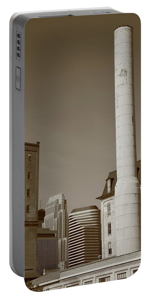 America Portable Battery Charger featuring the photograph Minneapolis Smokestack by Frank Romeo