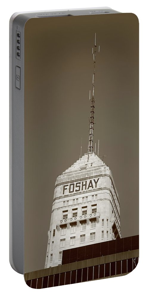 America Portable Battery Charger featuring the photograph Minneapolis Tower by Frank Romeo