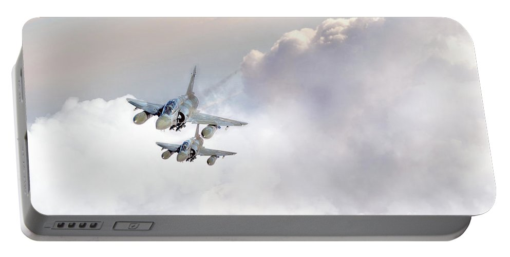 Dassault Mirage 2000 Portable Battery Charger featuring the digital art Mirage by J Biggadike