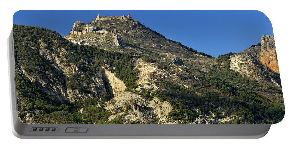 Architecture Portable Battery Charger featuring the photograph Moclin Castle by Guido Montanes Castillo