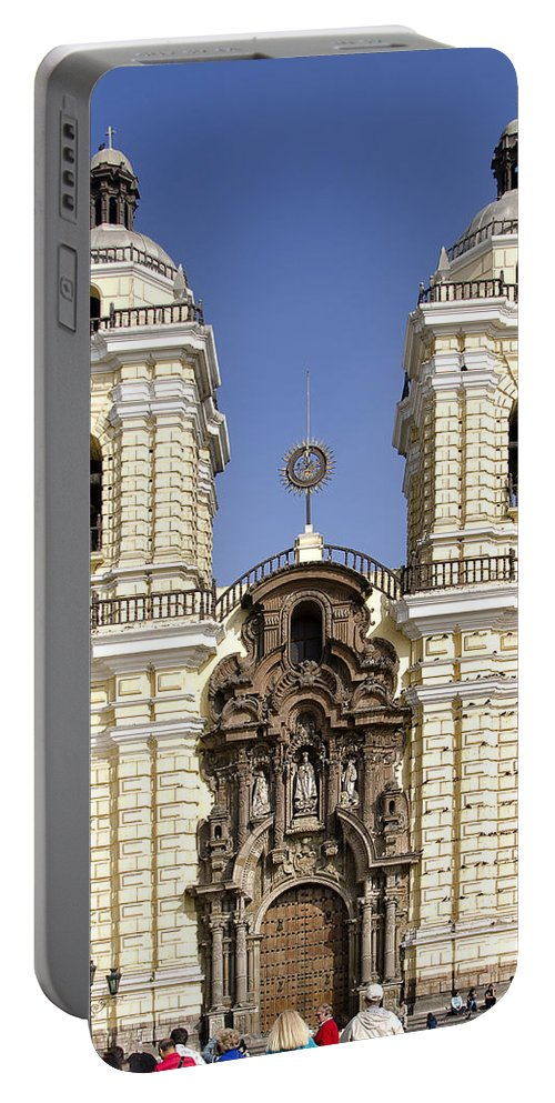 Lima Peru Portable Battery Charger featuring the photograph Monastery Of San Francisco - Lima Peru by Jon Berghoff