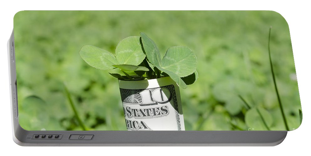 Money Portable Battery Charger featuring the photograph Money And Good Luck by Mats Silvan