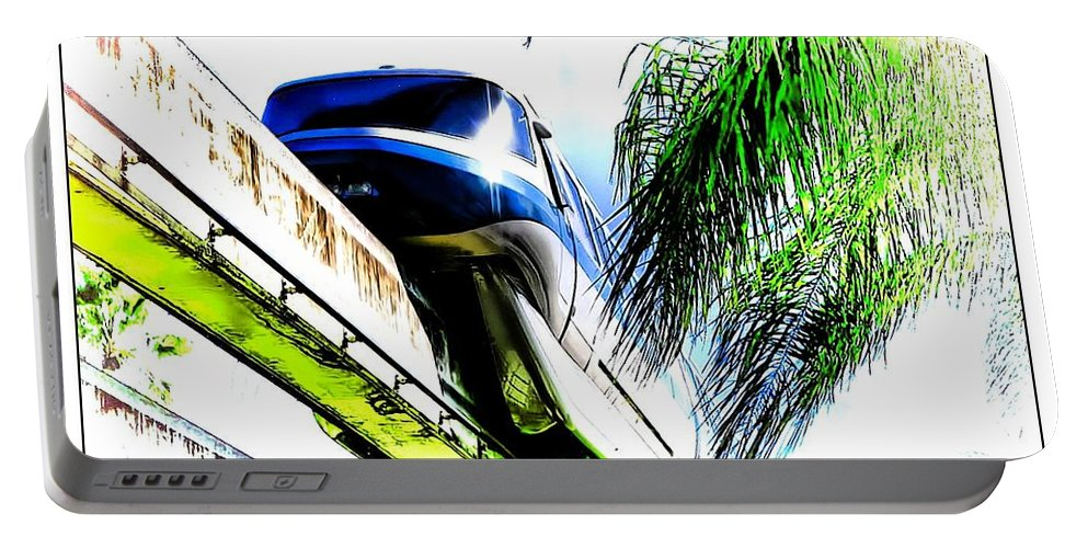 Monorail Portable Battery Charger featuring the photograph Monorail by Joyce Baldassarre