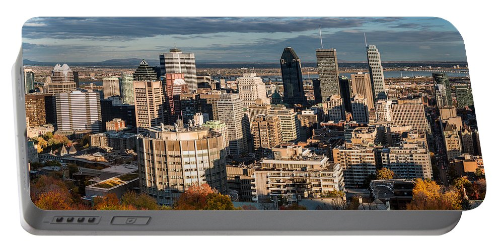 Day Portable Battery Charger featuring the photograph Mont Royal by Mihai Andritoiu