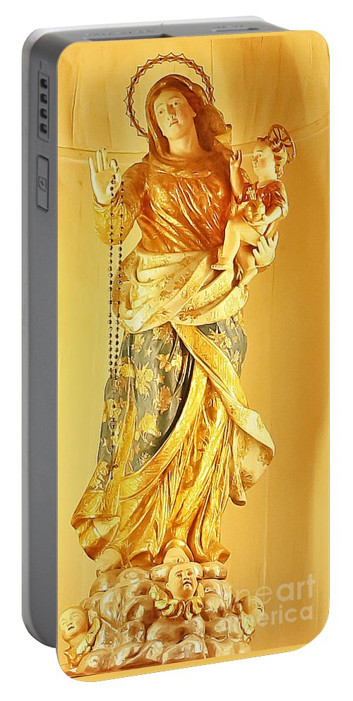 Travel Portable Battery Charger featuring the photograph Mother And Son by Elvis Vaughn