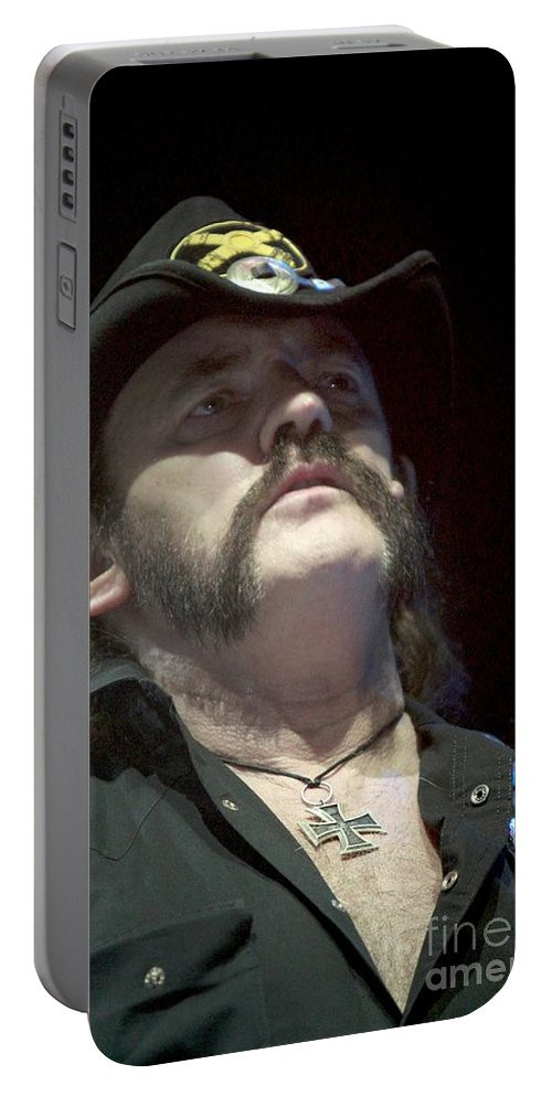 Bassist Portable Battery Charger featuring the photograph Motorhead by Concert Photos