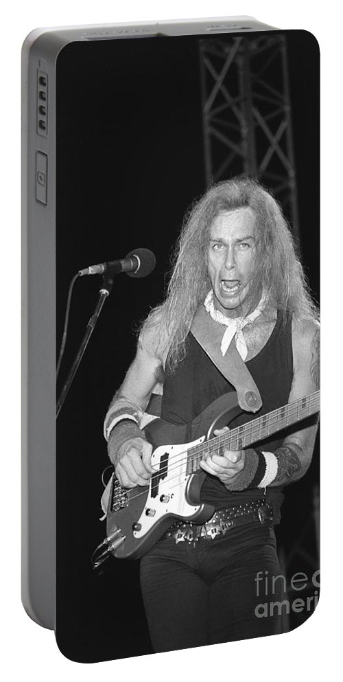 Bassist Portable Battery Charger featuring the photograph Mr. Big by Concert Photos