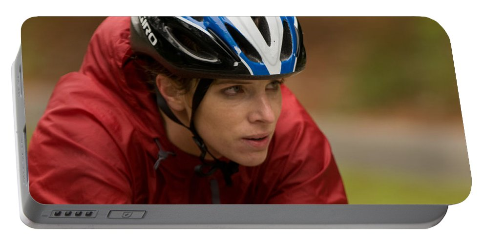 """""""nashua Sprint Y-triathlon"""" Portable Battery Charger featuring the photograph Nashua Sprint Y-tri 110 by Paul Mangold"""