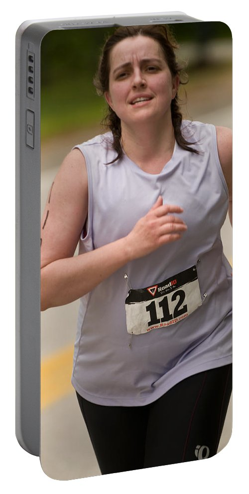 """nashua Sprint Y-triathlon"" Portable Battery Charger featuring the photograph Nashua Sprint Y-tri 112 by Paul Mangold"
