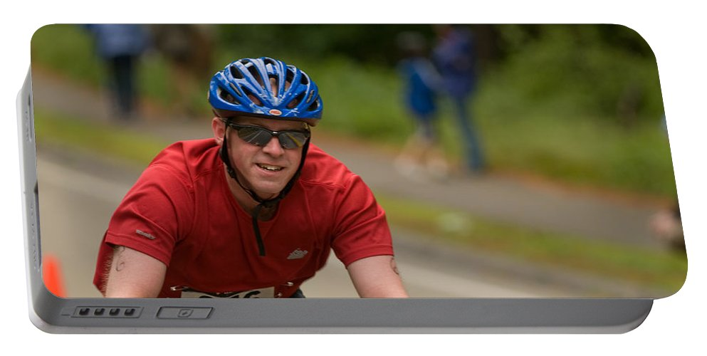 """""""nashua Sprint Y-triathlon"""" Portable Battery Charger featuring the photograph Nashua Sprint Y-tri 256 by Paul Mangold"""