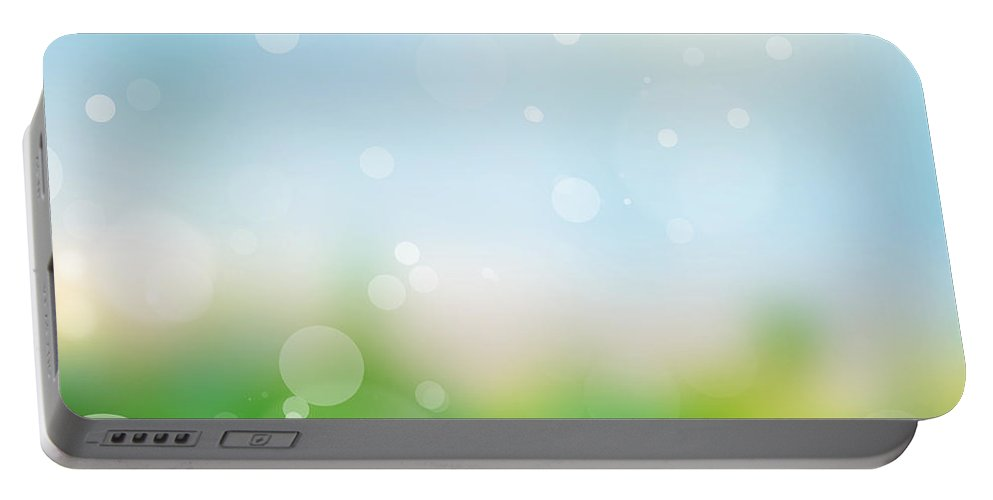 Summer Portable Battery Charger featuring the photograph Nature Blur Summer Background. by Michal Bednarek