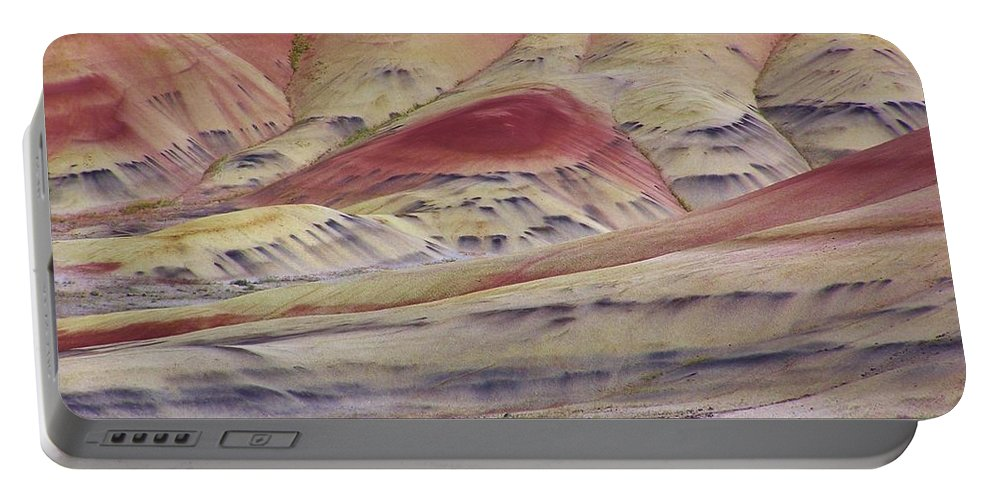 Painted Hills Portable Battery Charger featuring the photograph John Day Fossil Beds Painted Hills by Michele Penner