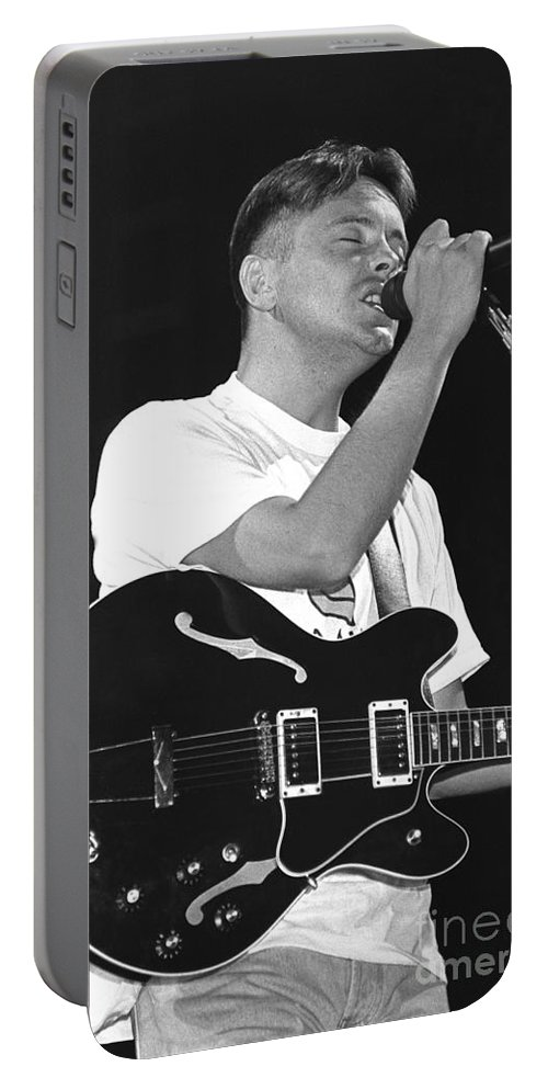 Singer Portable Battery Charger featuring the photograph New Order by Concert Photos