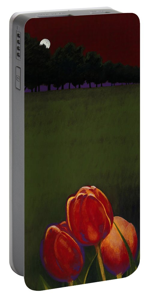 Portable Battery Charger featuring the painting Night Life by Jerome Lawrence