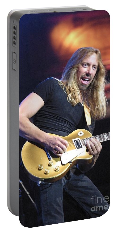 Hard Rock Portable Battery Charger featuring the photograph Night Ranger by Concert Photos