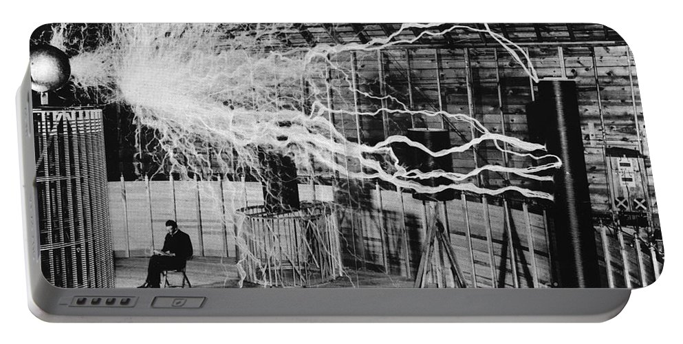 Nikola Tesla Serbian-american Inventor Portable Battery Charger
