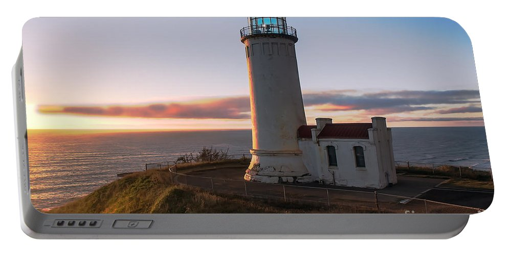 Lighthouse Portable Battery Charger featuring the photograph North Head Lighthouse by Robert Bales