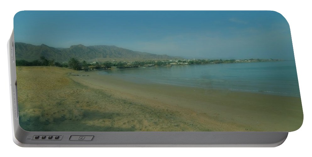 Colette Portable Battery Charger featuring the photograph Nuweiba Beach Sinai Egypt by Colette V Hera Guggenheim
