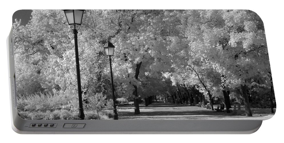 Portable Battery Charger featuring the photograph October Infrared by Jennifer Ann Henry
