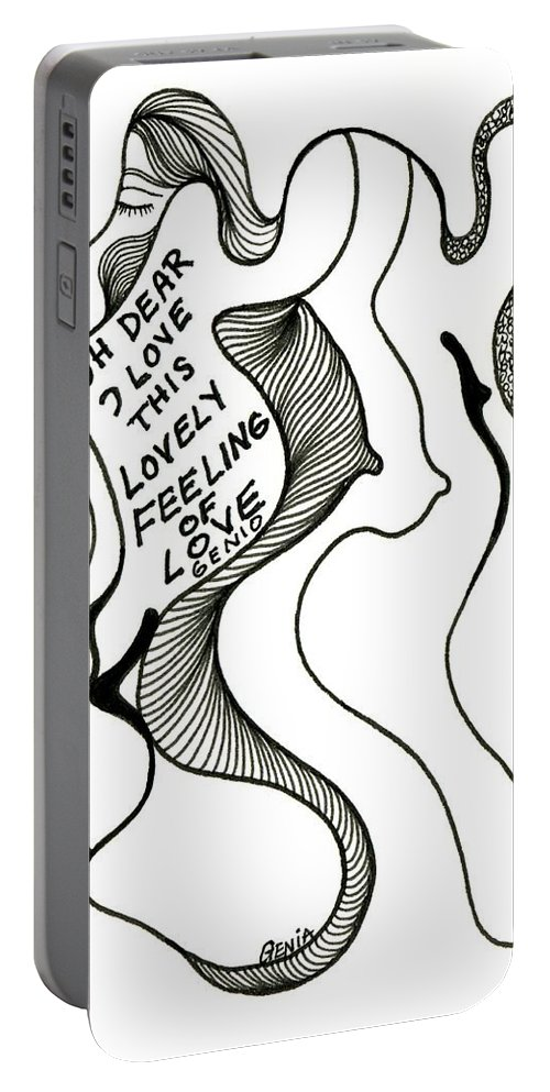 Genio Portable Battery Charger featuring the drawing Oh Dear by Genio GgXpress