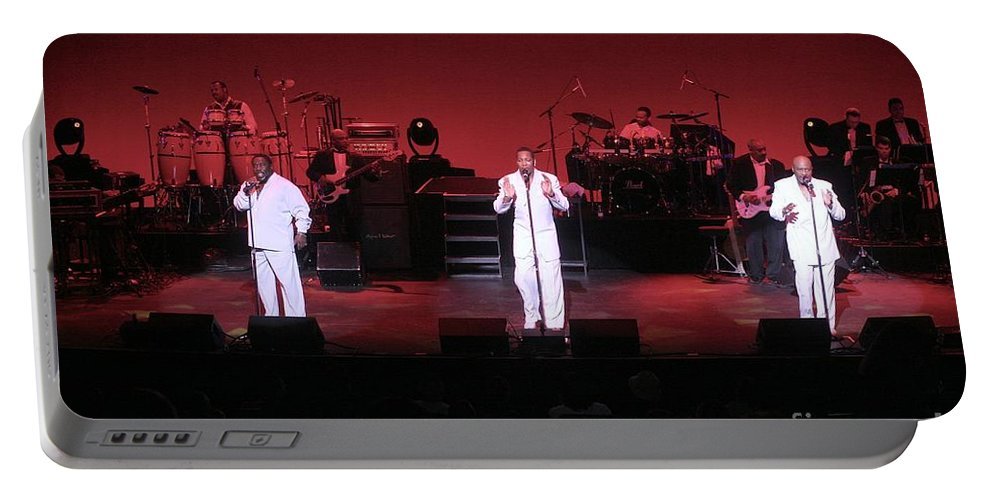 Appearance Portable Battery Charger featuring the photograph O'jays by Concert Photos