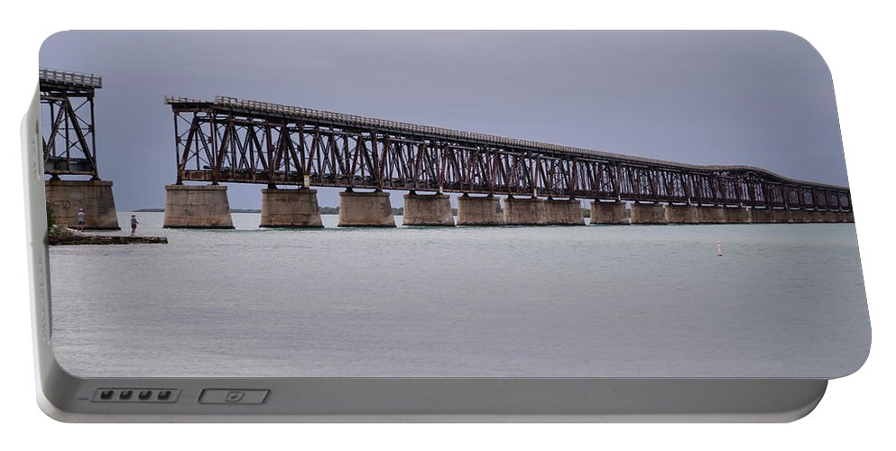 Atlantic Ocean Portable Battery Charger featuring the photograph Old Bahia Honda Bridge by Tracy Knauer