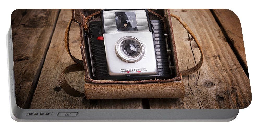 Camera Portable Battery Charger featuring the photograph Old Camera by Tim Hester