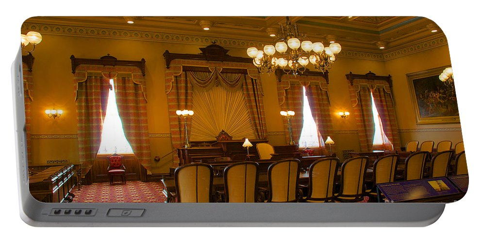 Annapolis Portable Battery Charger featuring the photograph Old House Of Delegates Room Of The Maryland State House by Mark Dodd