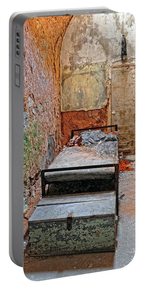 Prison Portable Battery Charger featuring the photograph Old Prison Cell by Dave Mills