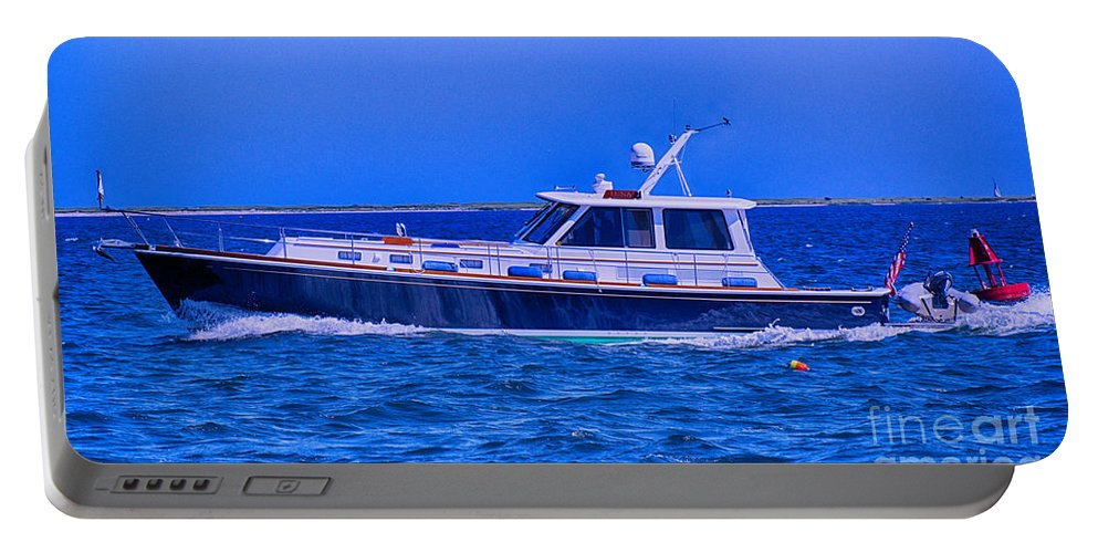 Boat Portable Battery Charger featuring the photograph On Course by Joe Geraci