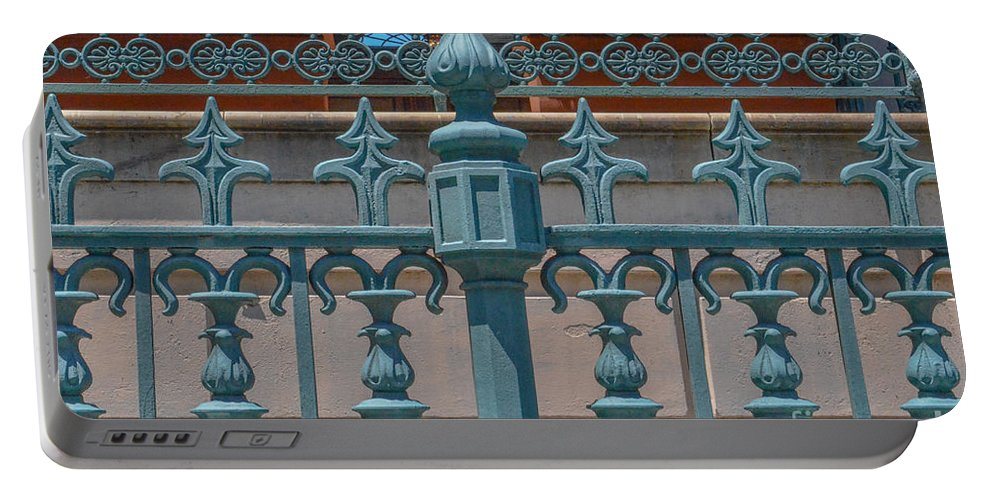 Ornate Fence Portable Battery Charger featuring the photograph Ornate Fence by Dale Powell