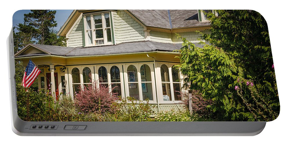Oysterville Portable Battery Charger featuring the photograph Oysterville House 6 by Mike Penney