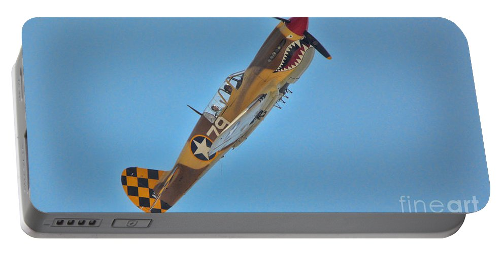 Curtis P-40 Warhawk Portable Battery Charger featuring the photograph P-40 Warhawk by Tommy Anderson
