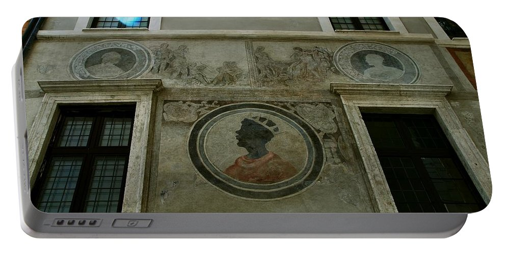 Italy Portable Battery Charger featuring the photograph Painted Wall by Eric Tressler