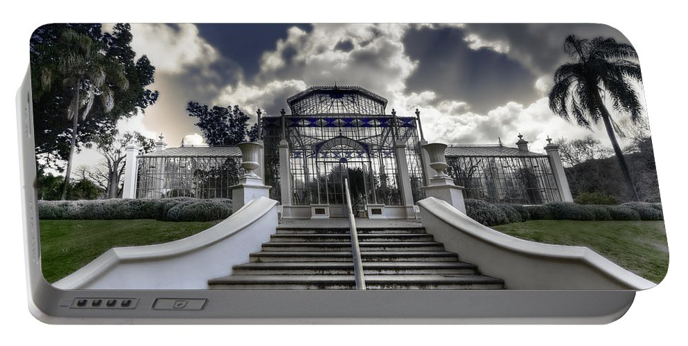 Palms Portable Battery Charger featuring the photograph Palm House by Wayne Sherriff