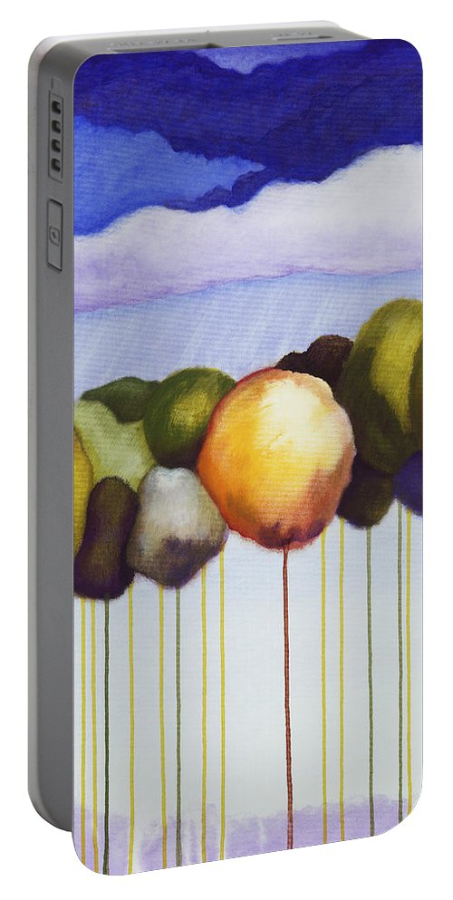 Portable Battery Charger featuring the painting Passionate Twilight Viii by Jerome Lawrence