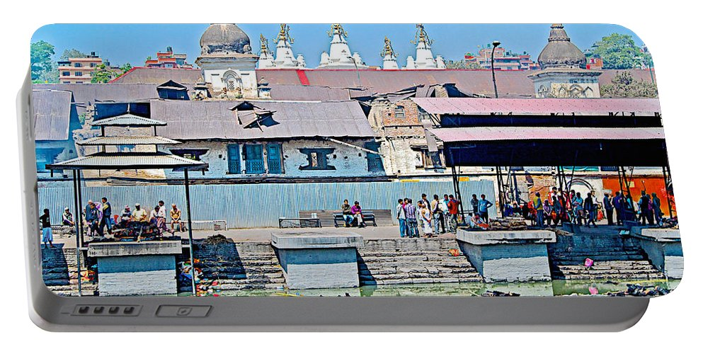 Pasupatinath Temple Of Cremation Complex In Kathmandu In Nepal Portable Battery Charger featuring the photograph Pasupatinath Temple Of Cremation Complex In Kathmandu-nepal- by Ruth Hager