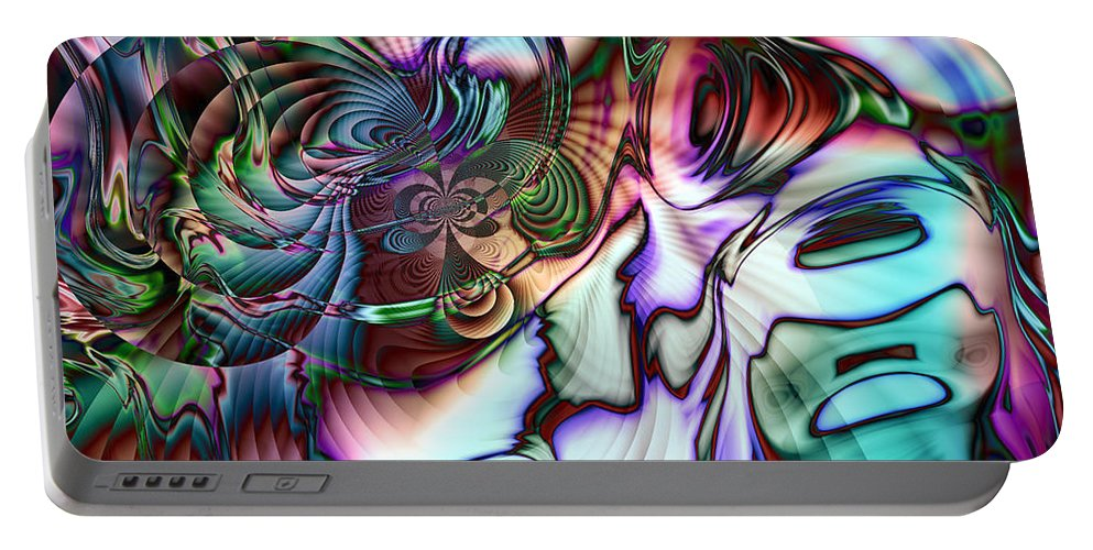 Abalone Portable Battery Charger featuring the digital art Paua Shell by Kiki Art
