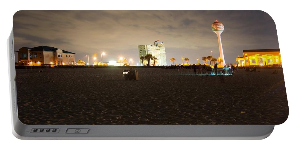 Pensacola Beach Portable Battery Charger featuring the photograph Pensacola Beach At Night by Jon Cody