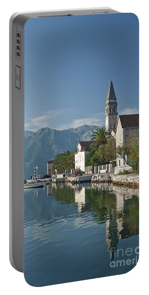 Architecture Portable Battery Charger featuring the photograph Perast Village On Kotor Bay Montenegro by Jacek Malipan