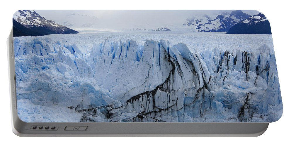 Argentina Portable Battery Charger featuring the photograph Perito Moreno Glacier by Michele Burgess