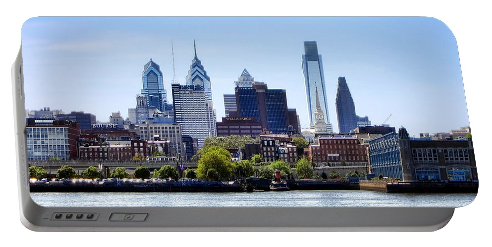 Philadelphia Portable Battery Charger featuring the photograph Philadelphia by Olivier Le Queinec