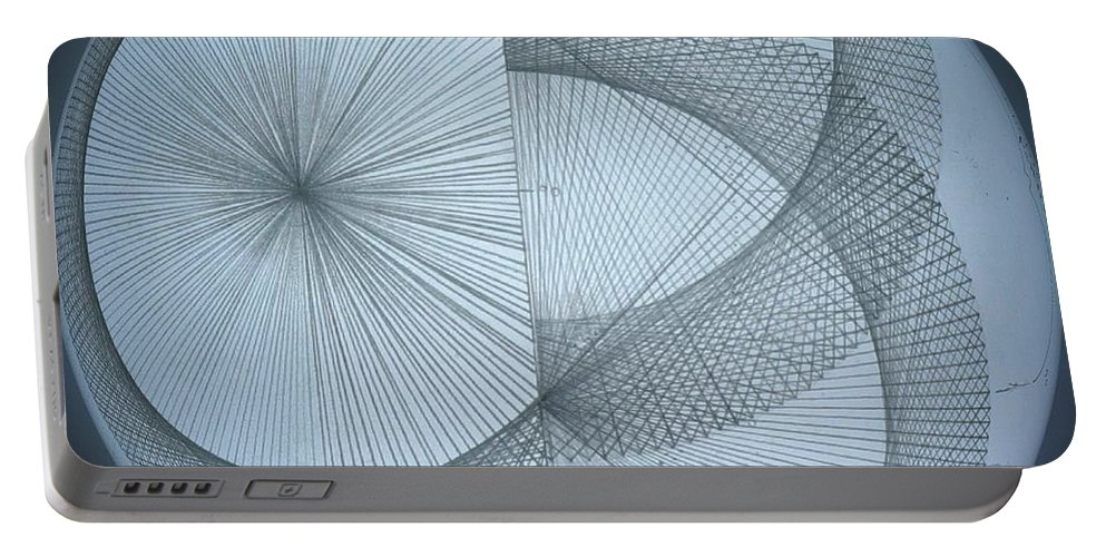 Photon Portable Battery Charger featuring the drawing Photon Double Slit Test by Jason Padgett