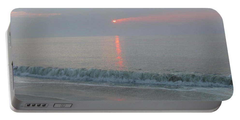 Landscape Portable Battery Charger featuring the photograph Pink Sunrise Glow by Ellen Meakin