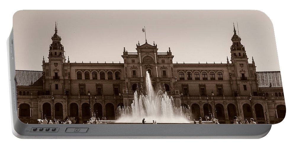 Seville Portable Battery Charger featuring the photograph Plaza De Espana by Andrea Mazzocchetti