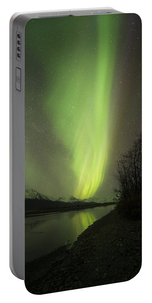 Aurora Portable Battery Charger featuring the photograph Plume by Ted Raynor