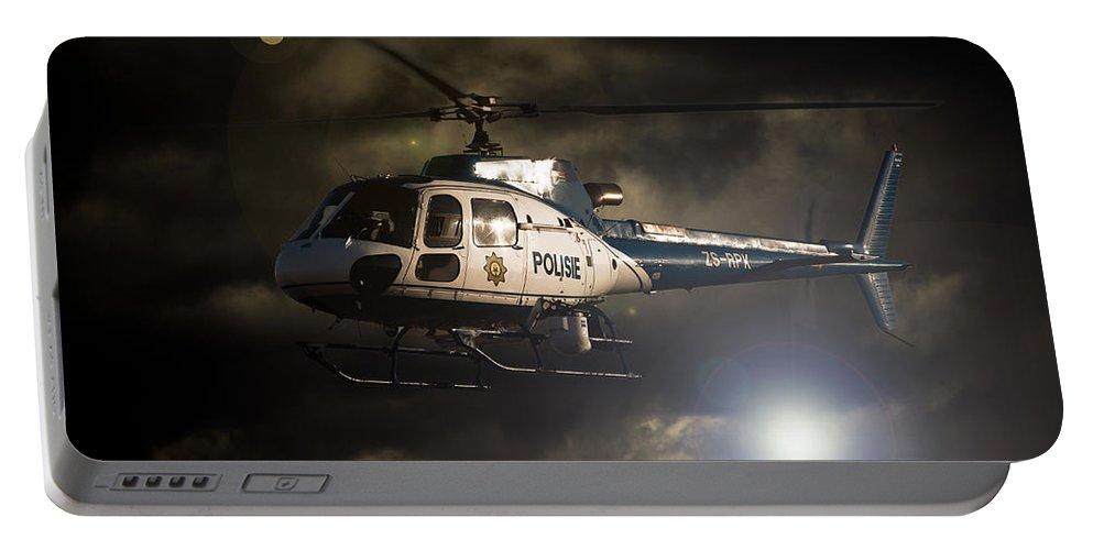 Eurocopter As350 B3 Portable Battery Charger featuring the photograph Police by Paul Job